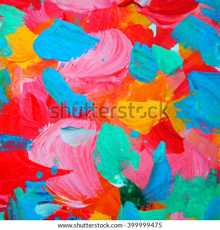 floral decorative abstract painting for interior, background, illustration