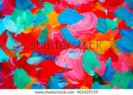 floral decorative abstract painting for interior, background, illustration - stock photo