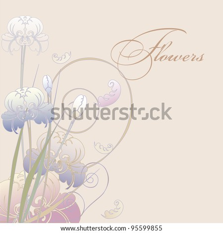 floral design iris pastel color