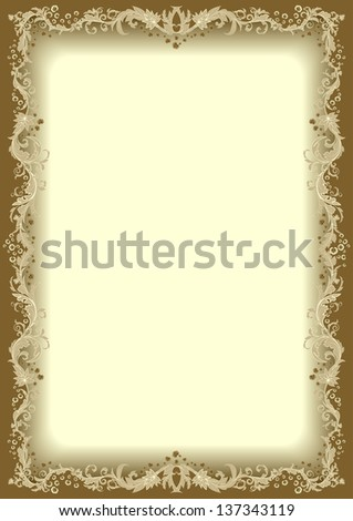 Floral frame. - stock photo