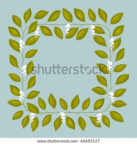 Floral frame - stock photo