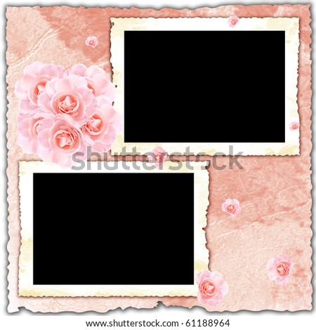 Floral frame for message or photo