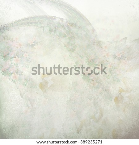 floral gentle pattern - stock photo