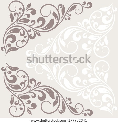 Floral greeting card. Raster version of vector. - stock photo
