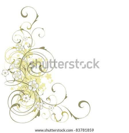 Floral illustration - stock photo