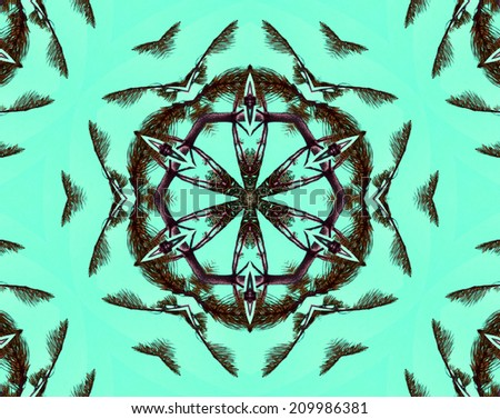 floral kaleidoscope - stock photo