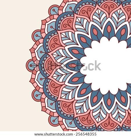 Floral oriental pattern. Raster version. - stock photo