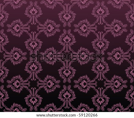 floral ornament - stock photo
