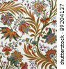 floral ornamental paper - stock photo