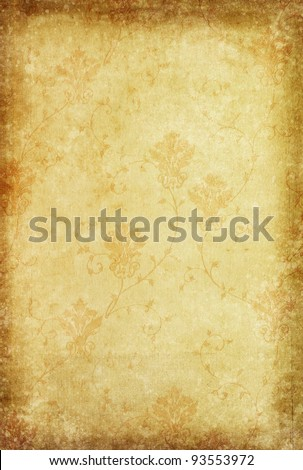 floral pattern classic and vintage wallpaper style - stock photo