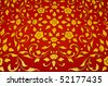 Floral pattern. Detail on temple in Bangkok, Thailand - stock photo