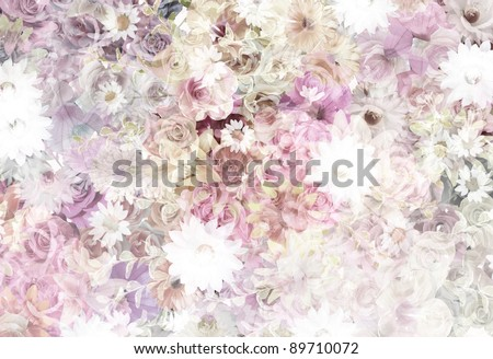 floral pattern (dried color) - stock photo