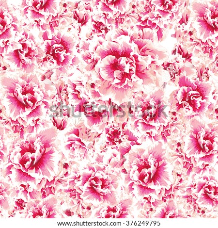 Floral pattern in red and pink color