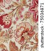 Floral pattern material - stock photo