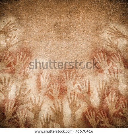 floral pattern on black - stock photo
