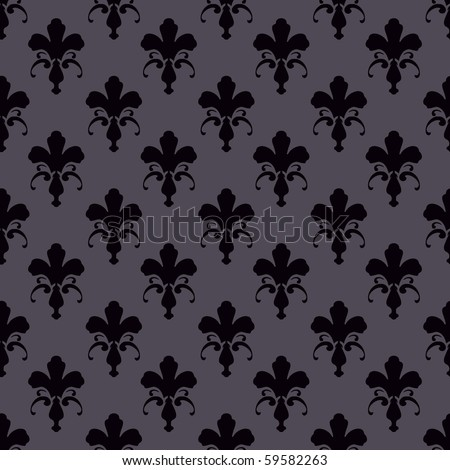 Floral patterned wallpaper - stock photo