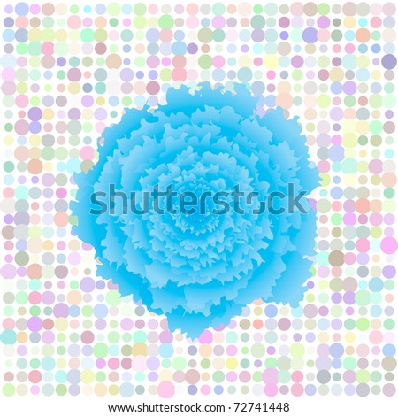 Floral retro raster pop art background - stock photo