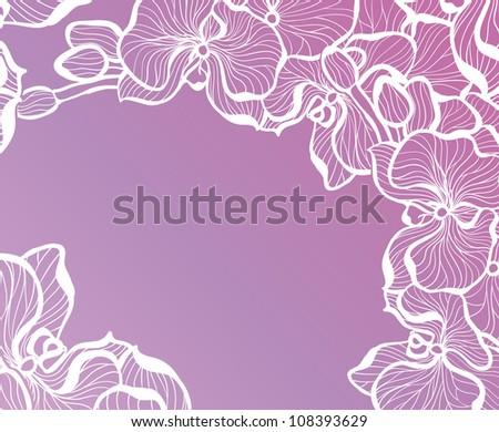 Floral romantic design template - stock photo