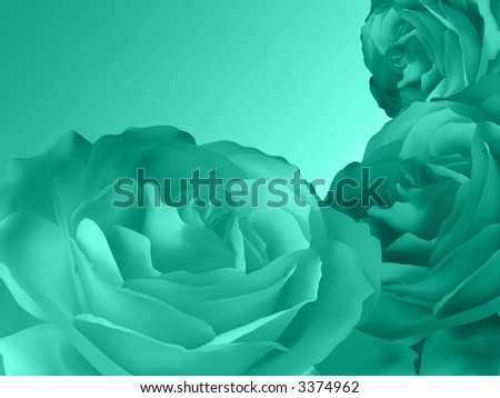 Floral rose green design - stock photo