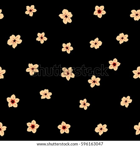 Floral Seamless Background For Manufacturing Wallpapers And Scrapbooking Simple Cute Pattern In Small