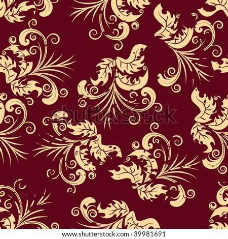 Floral seamless background for yours design use.