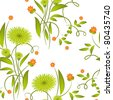 Floral seamless background (jpg) - stock photo