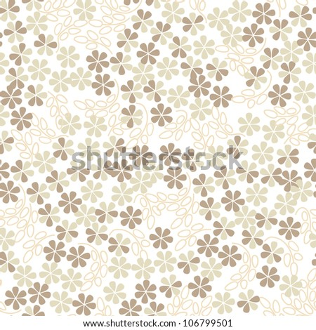 floral seamless pattern background with gentle flowers - stock photo