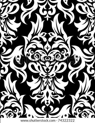 Floral seamless pattern, element for design,  illustration - stock photo