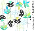 Floral seamless pattern (raster version) - stock photo