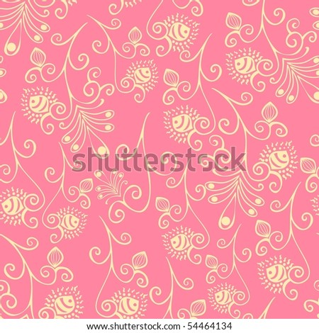Floral seamless pattern. Texture with flowers.