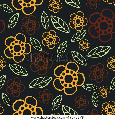 Floral seamless pattern. Vector version is in my portfolio. - stock photo