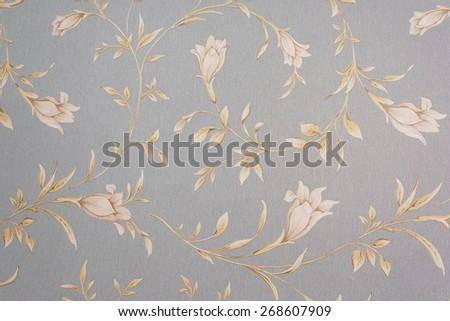 Floral seamless pattern wallpaper - stock photo