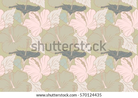 bright neutral colors abstract vintage seamless flower pattern orchid stock vector