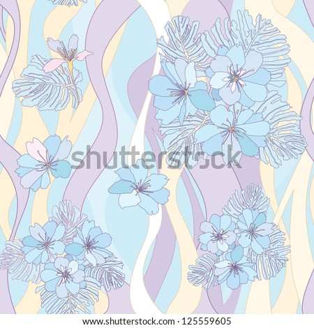 Floral seamless texture, endless pattern with flowers. Gentle flower seamless background