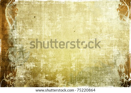 floral style textures and backgrounds frame - stock photo