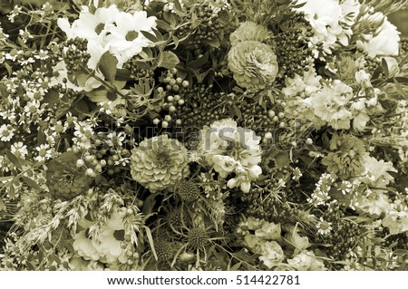 Floral texture monochrome flowers background