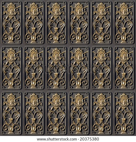 Floral tile. - stock photo