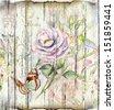 floral vintage  background - stock vector