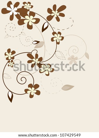 Floral vintage background with flowers