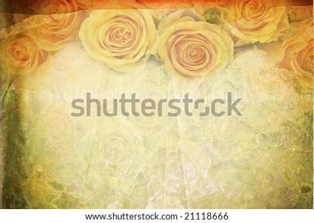 floral vintage canvas - stock photo