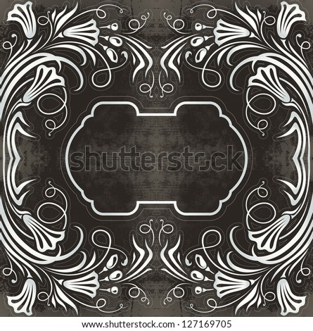 floral vintage label - raster copy