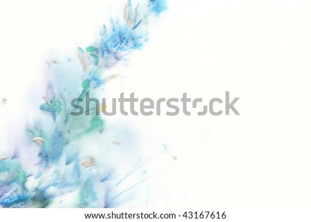 floral watercolor  illustration - stock photo