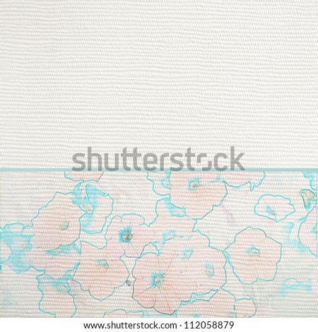 Floral wedding or party invite template - stock photo