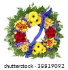 Floral Wreath isolated with clipping path - stock photo
