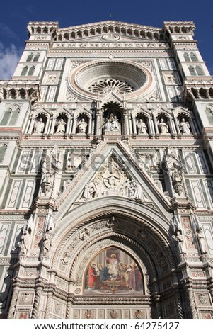 Florence cathedral. Architecture in Italy. UNESCO World Heritage Site.