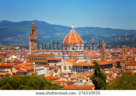 Florence, Cathedral of Santa Maria del Fiore - stock photo