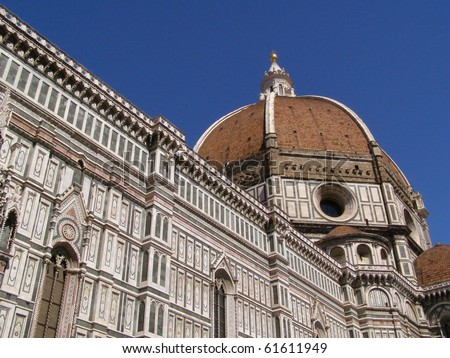 Florence cathedral with Brunelleschi dome (1446-1461)