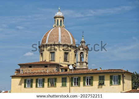 Florence church dome and home view