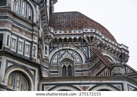 Florence (Firenze, Tuscany, Italy): the cathedral, dome by Brunelleschi