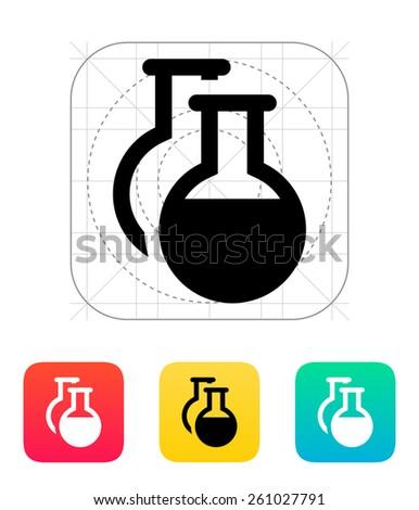 Florence flasks icon on white background. - stock photo